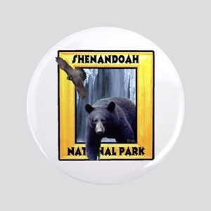 "Shenandoah Nationl Park Bear 3.5"" Button"
